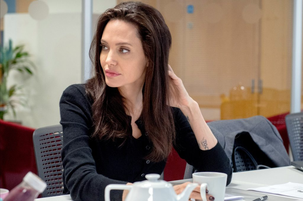 Image ©Licensed to i-Images Picture Agency. 14/03/2017. London, United Kingdom. Angelina Jolie visit LSE. UNHCR Special Envoy Angelina Jolie attends the LSE. Picture by Andrew Parsons / i-Images